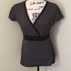 Style & Co polkadotted v-neck top